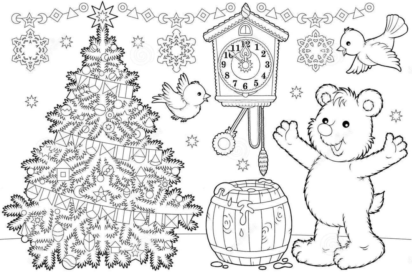Елки раскраска для детей – Ой! — ukovskaya.ru — Семья ...