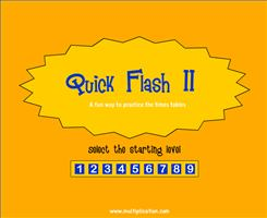 Welcome to Quick Flash II Multiplication