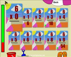 The Sunny Beach Theme in Quick Flash II Multiplication